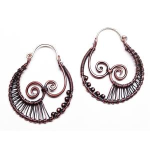 Kissing Spirals Earrings