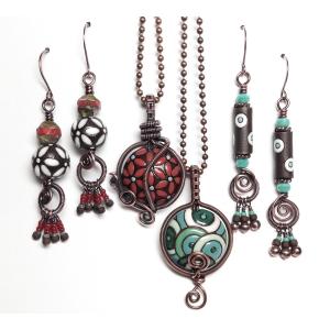 Simply Bohemian Pendant and Earrings