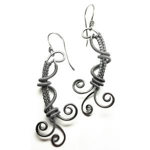 Wire Dance Earrings